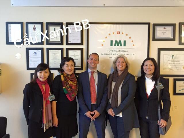 Tự hào là Đại diện tuyển sinh xuất sắc của trường IMI,Thụy Sỹ
