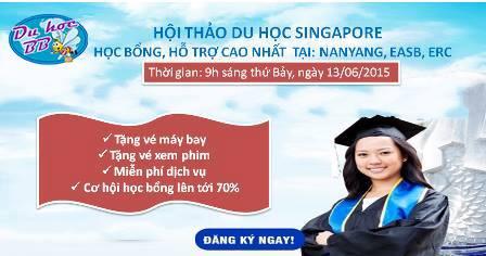 Hội thảo du học Singapore: Học bổng, hỗ trợ cao nhất vào các trường EASB,  NIM, ERC