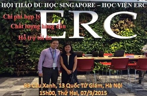 Hội thảo du học Singapore cùng học viện ERC: chi phí hợp lý, hỗ trợ tối đa